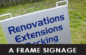 CLICK HERE FOR  A -FRAME SIGNAGE