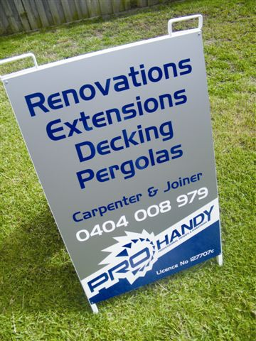 A Frames Signage by Signature Graphix